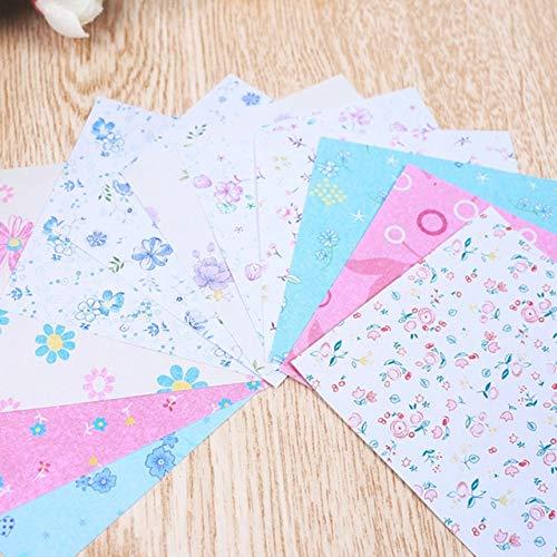 Origami Cuadrado Papel de Colores doblado de Doble Cara decoración de álbum de Recortes Hecha a Mano para niños - Flores pequeñas