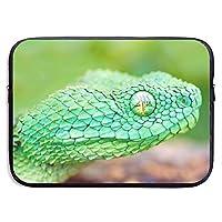 自然 ヘビ 緑 野生動物 マンバ パソコンバッグ ラップトップ収納カバン インナーバッグ PCケース ノートパソコンケース 360°保護ケース 13インチ 15インチ 衝撃吸収