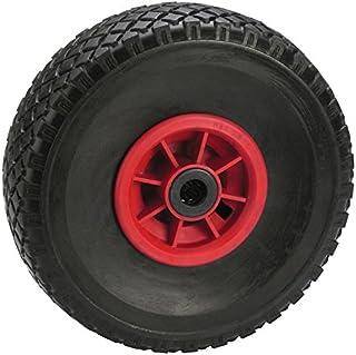 Dörner + Helmer Steekwagenwiel lekbestendig (260 x 85 x 20 mm, naaf 75 mm, rode velg, blokprofiel, rollagers) 740310RP