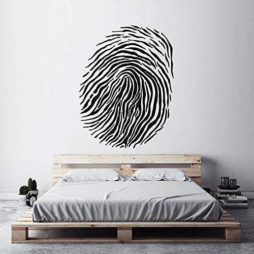 Moderne wooncultuur vingerafdruk sjabloon Thumbprint Forensic Science muurtattoos woonkamer kunst muursticker slaapkamer wandafbeeldingen 57X74 cm