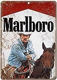 Letrero de metal vintage de Marlboro Man Cigarrillo Anuncio Cowboy de 30,48 x...