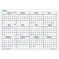 壁掛カレンダー【2021年 1月始まり】A3 ブロックプランナー CK-33