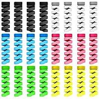 ケーブルプロテクター ケーブル収納カバー ツイスト カラー TPU素材 断線防止 折り防止 汚れ防止 耐摩耗性 DIY 2 色 24セット 3.7cm (6色)