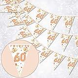 HOWAF 60. Geburtstag Banner Girlande 60
