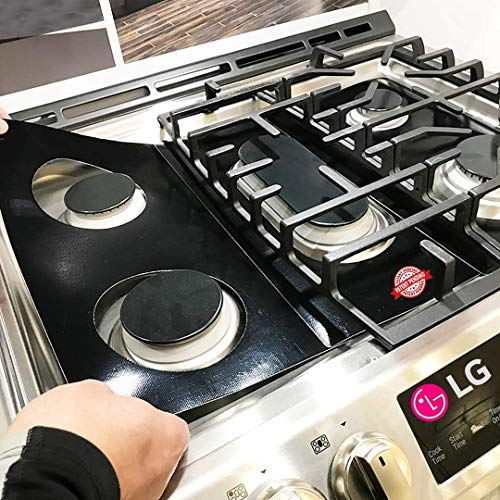 LG Stove Protector Liners - Stove Top Protector for LG Gas Ranges - Customized - Easy Cleaning Stove Liners for LG Model LSG4513ST