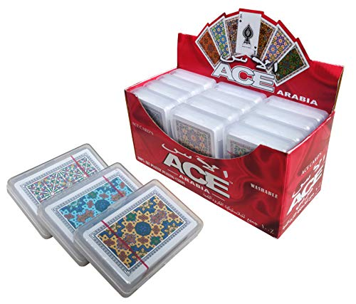 The Ace Card Company Bridge Plastic Playing Cards, Washable - Set of 3 - Made in India