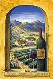 Targa in metallo 20 x 30 cm bombata di vino rosso Francia decorazione regalo