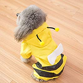 KUANDARMX Double layer cute dog raincoat waterproof pet clothes poncho suitable for large, medium and small pets