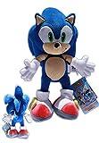 Sonic the Hedgehog Mueco del videojuego SEGA, peluche de 34cm, color azul
