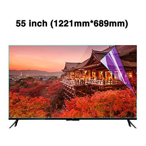 JAY-LONG 55 Zoll Anti-Blaulicht TV Screen Protector/Anti-Glare LED Screen Protector Dateien - Anti-Fingerabdruck-Ölfleck/Radiation Reduction/Augenschutz,B