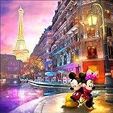 5d DIY Mickey Mouse Diamante Pintura punto de cruz Set Ronda Diamante Etiqueta de la pared Mosaico Pintura Decoración del hogar