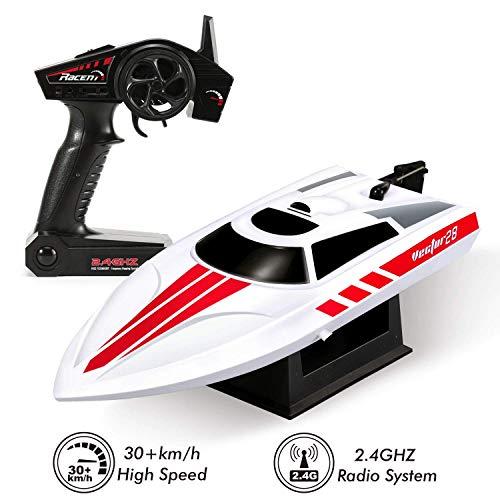 RCTecnic RC Vector 28 Radiografisch bestuurbare Super Speed Boat Speed Racer Volantex 2,4 GHz | Hoge snelheid afstandsbediening boot voor kinderen en volwassenen