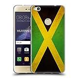 Head Case Designs Jamaicano De Jamaica Banderas Vintage Carcasa de Gel de Silicona Compatible con Huawei P8 Lite (2017)