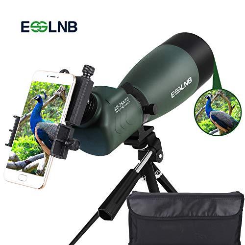 pas cher un bon ESSLNB25-75X70 Spotting Scope Une puissante lunette de repérage avec un adaptateur de trépied pour téléphones et un sac BAK4…