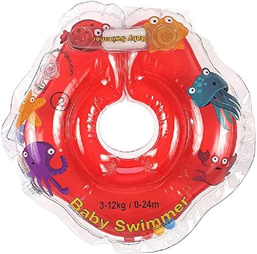 Baby Schwimmer Tüv GS - Giubbotto ad anello, taglia 3 – 12 kg (0 – 24 mesi) – Aiuto per il nuoto per neonati e nuotatori in rosso