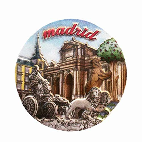 Madrid Spanien Sibari Brunnen 3D Kühlschrank Magnet Handwerk Souvenir Harz Kühlschrank Magnete Sammlung Reisegeschenk