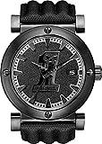 Harley Davidson 78B131 - Reloj de Cuarzo para Hombre, Correa de Cuero Color Negro