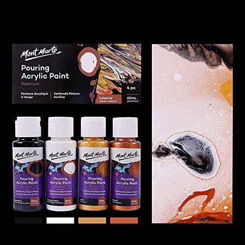 CAFFAINA Set di Colori acrilici pigmentati Vernice marmorizzata fluida Strumento di Disegno per colata acrilica - Celestial