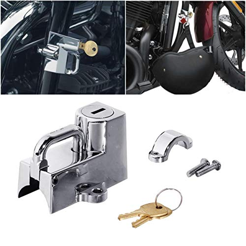 Cyclist store Compatible for Kuryakyn Cruiser Motorrad Helmschloss 22mm 7/8 Compatible for alle 1-1/4 Zoll bis 1-1/2 Zoll