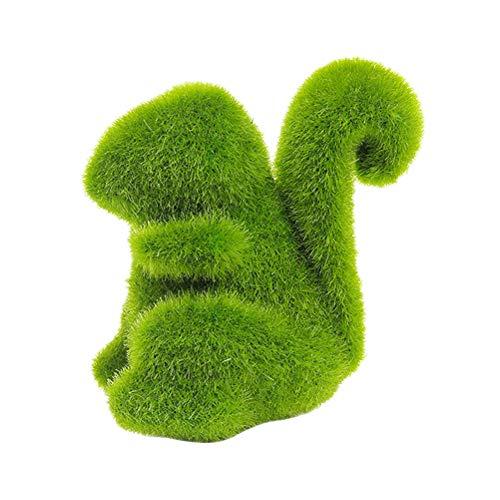 LIOOBO Decoración de Musgo Artificial con Forma de Ardilla Jardín Hierba Verde Decoración de Plantas Plantas Falsas (Forma de Ardilla)