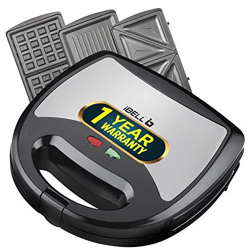 iBELL SM301 750 Watt 3 in 1 Sandwich Maker(Toast/Waffle/Grill),Black
