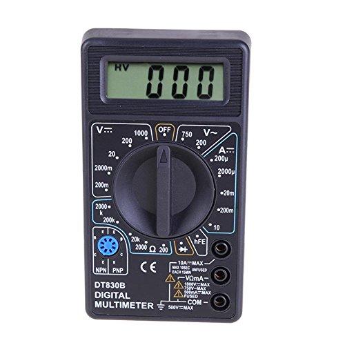 Everpert DT-830B - Multimetro digitale LCD AC DC 750 1000 V Amp Volt Ohm Tester Meter