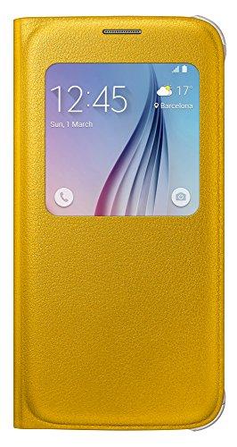 Samsung S Premium-Schutzhülle mit Sichtfenster für Samsung Galaxy S5Mini–Schwarz, aufklappbar