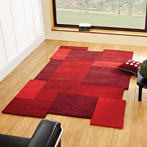 Rugs Direct Tapis en Laine Rouge 150 x 240 cm