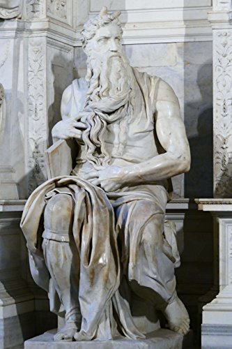 Michelangelo\'s Moses Statue in Rome Italy Journal: 150 page lined notebook/diary