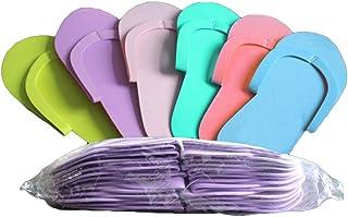Beaupretty Pantofole in Schiuma Monouso 12 paia Infradito colorate per salone Pedicure Spa
