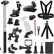 Skyreat Expansion Accessories Kit for DJI Osmo Pocket Handheld Camera Mounts Chest Strap Bike Car Backpack Clip Mount Tripod Holder for Osmo Pocket