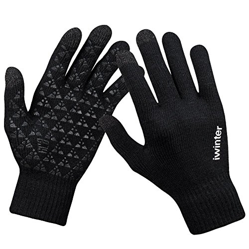 winter knit thick warm touch screen gloves
