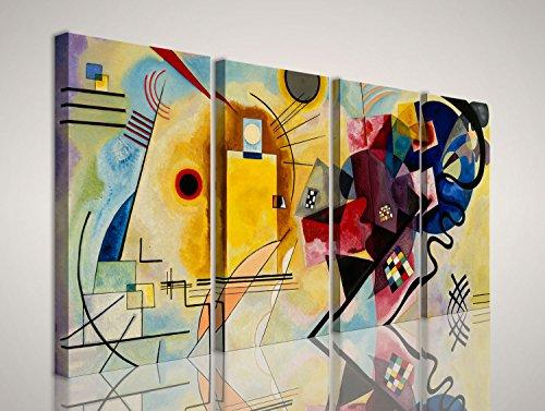 mywalldesign Quadro Moderno Tela Canvas Kandinsky Giallo Rosso Blu 160x80 CM