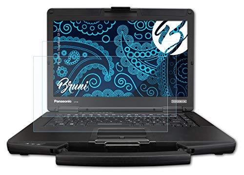 Bruni Schutzfolie kompatibel mit Panasonic ToughBook CF-54 Folie, glasklare Bildschirmschutzfolie (2X)