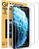 Mkeke Compatible with iPhone 11 Pro Max Screen Protector, iPhone Xs Max Screen Protector Tempered Glass -3 Pack 6.5'