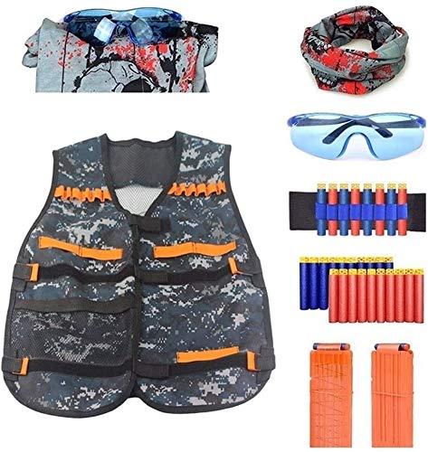 Coole atletiek Tactische vest veiligheidsvest kit, verstelbaar, met een geschikt Nerf N-Strike Elite team wild jagen vest training van gesloten opbergzakken hjm zhanshubeixin (Color : Camouflage)