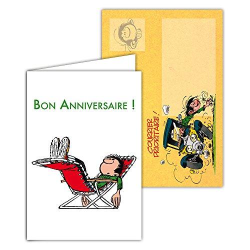 Gaston Lagaffe glct-6067tarjeta de cumpleaños para todos los tiempos con dibujo vintage original...