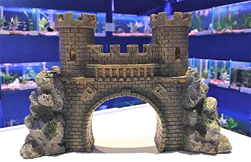 Mezzaluna Gifts Large Castle Bridge with Turrets Aquarium Fish Tank Ornament