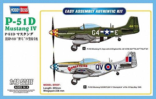 Hobbyboss 1:48 -Modellino Aereo P-51D Mustang IV Fighter - HBB85802