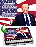 Donald Trump Edible Image Cake Topper Party Personalized 1/4 Sheet