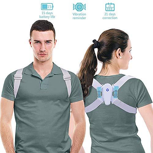 LSBQQ Posture Corrector Back Straightener for Posture Correction Back Support Back Trainer Shoulder Strap Posture Trainer Ideal for Correcting Back and Shoulder for Women/Men/Children