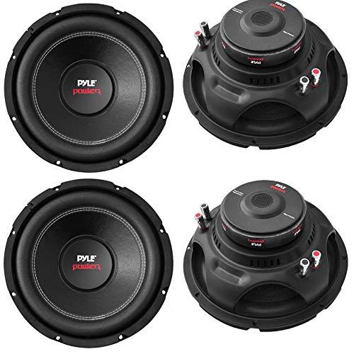 """4) Pyle PLPW10D 10"""" 4000W Car Subwoofer Audio Power Subs Woofers DVC 4 Ohm Black"""