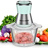 Food Processor, REDMOND 8-Cup Vegetable Chopper Electric with 2L Bowl for Mincing/Pureeing/Chopping Meat and Peeling Garlic, 2-Speed Adjustment, 350W (Green)