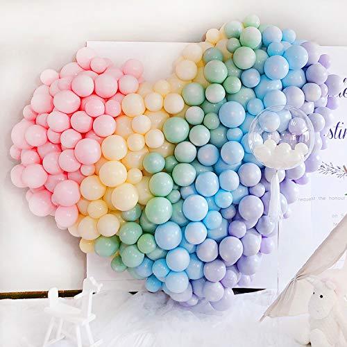 BelonLinK Globos Pastel, Pack de artículos para Fiestas, Macaron Latex Balloons Color Globos para Graduaciones, Fiestas, cumpleaños, día de San Valentín, Decoraciones (100 PCS)