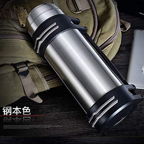 Water cup 304 isolatie pot grote capaciteit roestvrij staal mok outdoor sport fles glas reispot auto, Kleur: Champagne Goud, Inhoud: 1.5L