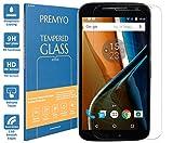 PREMYO Panzerglas Schutzglas Bildschirmschutzfolie Folie kompatibel für Motorola Moto G4 Blasenfrei HD-Klar 9H 2,5D Gegen Kratzer Fingerabdrücke