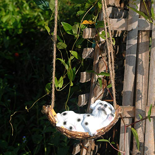 Animal Statue Garden Ornaments home decoration garden craft simulation animal Outdoor Statue Accessories Decoration for Home Garden Path Lawn-Tree hanging dalmatian