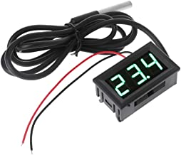 JENOR 0.56 pulgadas DS18B20 Termómetro digital impermeable sensor de temperatura sonda DC 12 V 24 V