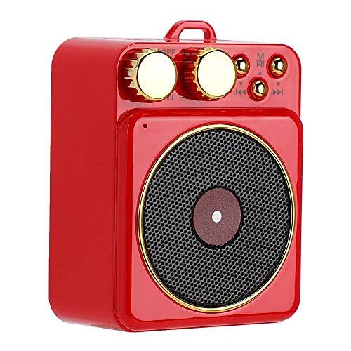 DC 37 V Retro Bluetooth 50 Lautsprecher Bluetooth Lautsprecher Smart Audio Unterstutzung FreisprechenFM RadioUSBTF Karte klassische Retro Mini Multifunktions Lautsprecher GeschenkRot