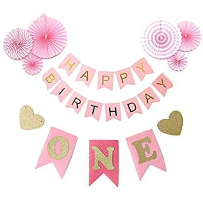first birthday decorations pink